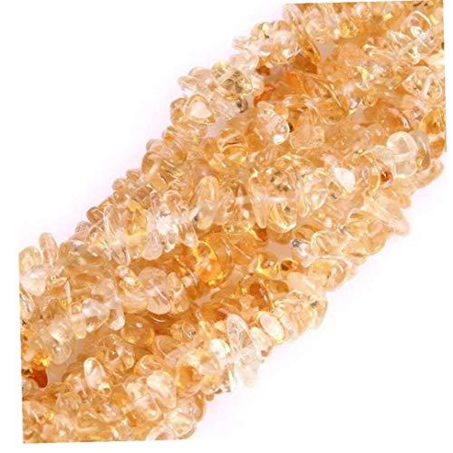 AYRSJCL Citrino Chips 7-8m m Beads 34 Pulgadas ágata Chips para los Pendientes del Collar de la Pulsera joyería Que Hace Manualidades Diseño Flojo de los Granos al por Mayor de Curación