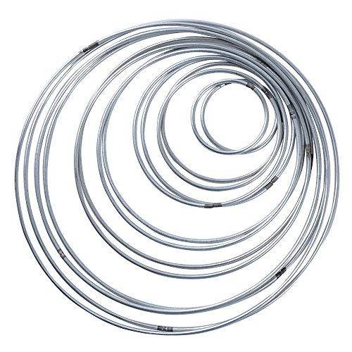 SERWOO 14pcs 7 Tamaños Aros Atrapasueños de Metal Artesanio Anillos de Metal para Atrapasueños (Plateado)