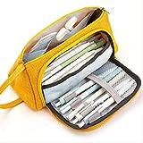 XSHIYQ Estuche para lápices de gran capacidad Kawaii Estuche para lápices Estuche para lápices escolares Suministros Bolso para lápices Estuche para escuela Estuche para lápices 20x17x8CM Amarillo