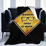 XCNGG mantas de cama mantas de siesta mantas de aire acondicionado Retro Nerds at Work Black Thin Lap Blanket Cozy Summer Blanket No Shedding Premium Flannel Throw Blanket Luxury Couch Throw Blanket S