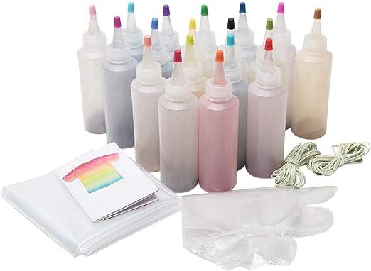 Kit de tinte de un paso, 5/12/18 colores de tela textil muti ...