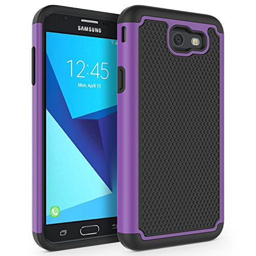 SYONER Shockproof Phone Case Cover for Samsung Galaxy J7 V 2017 (1st Gen)/ Galaxy J7 2017 / Galaxy J7 Prime/Galaxy J7 Perx/Galaxy J7 Sky Pro/Galaxy Halo[Purple]