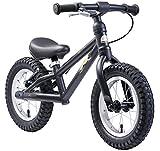 BIKESTAR Mountain Kinderlaufrad Lauflernrad Kinderrad für Jungen und Mädchen ab 3 - 4 Jahre | 12 Zoll Kinder Laufrad Mountainbike | Schwarz | Risikofrei Testen