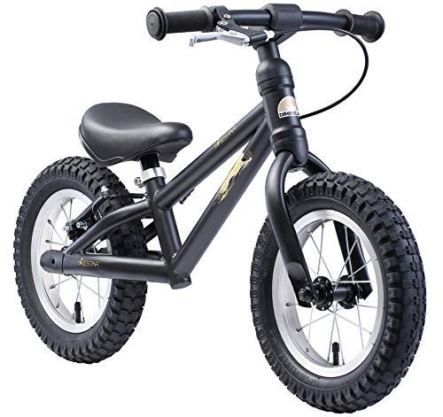 BIKESTAR Bicicleta sin Pedales para niños y niñas 3-4 años | Bici con Ruedas de 12' Edición Bici de montaña | Negro