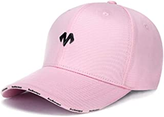 HXSD Baseball Hat, Male and Female Caps, Street Outdoor Sports, Curved Embroidery Couple Sun Protection Visor, Hip Hop Hat, One Size, Multiple Colors (Color : Pink)