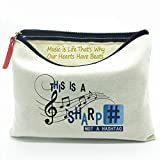 WIEZO-USA Music Teacher Gifts Music Student Canvas Bag Gifts-Music Lover Canvas Bag Gift -This is a Sharp Not a Hashtag-Music is Life-Diesis-Funny Musician Gift