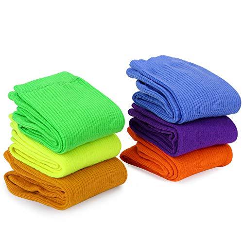 MOSOTECH Calcetines Mujer, 6 Pairs Color Brillante Calcetines de Mujer Algodon de Moda y Casual, Transpirable Cómodo Calcetines para Mujer / Señoras / Muchachas, EU Size 35 - 41