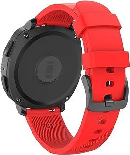Isabake Correa para Samsung Galaxy Watch Active/Active 2 40&44mm/Galaxy Watch 42mm/Gear Sport/Gear S2 Classic Banda de Repuesto de Silicona Suave de 20mm para Accesorios de Reloj (Rojo)