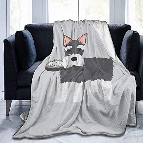 Manta de Tiro Divertido Perro Encantador Manta de Microfibra Ultra Suave Manta de Cama súper Suave y acogedora para Cama Sofá Sofá Sala de Estar Picni
