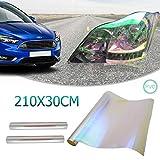 chameleon - pellicola trasparente per fari auto, 30 x 210 cm, per fari fendinebbia, fanali posteriori, indicatori di direzione