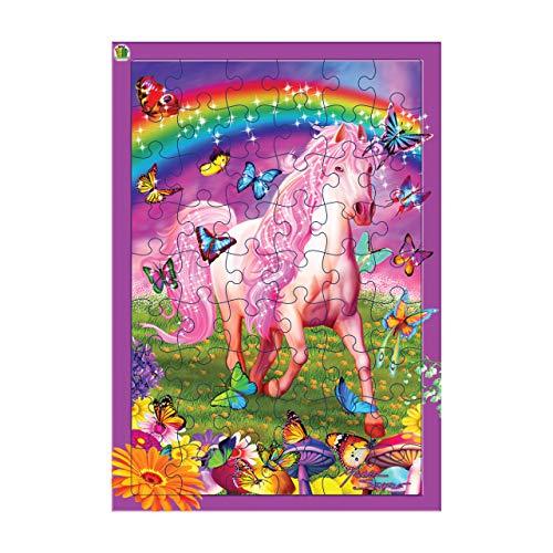 3D LiveLife Tray Jigsaw Puzzle - rosa Pony Dazzle. ¡Rompecabezas lenticular del caballo 3D con 40 pedazos! Tray Puzzle Range de Deluxebase. ¡Ilustraciones originales autorizadas del artista re