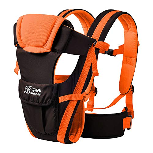 Soft Baby Carrier, 4-in-1 Convertible Baby Sling Backpack,Ergonomic Kangaroo Bag, 2-30 Months