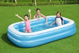 Zoom IMG-1 bestway 54006 piscine gonflable rectangulaire