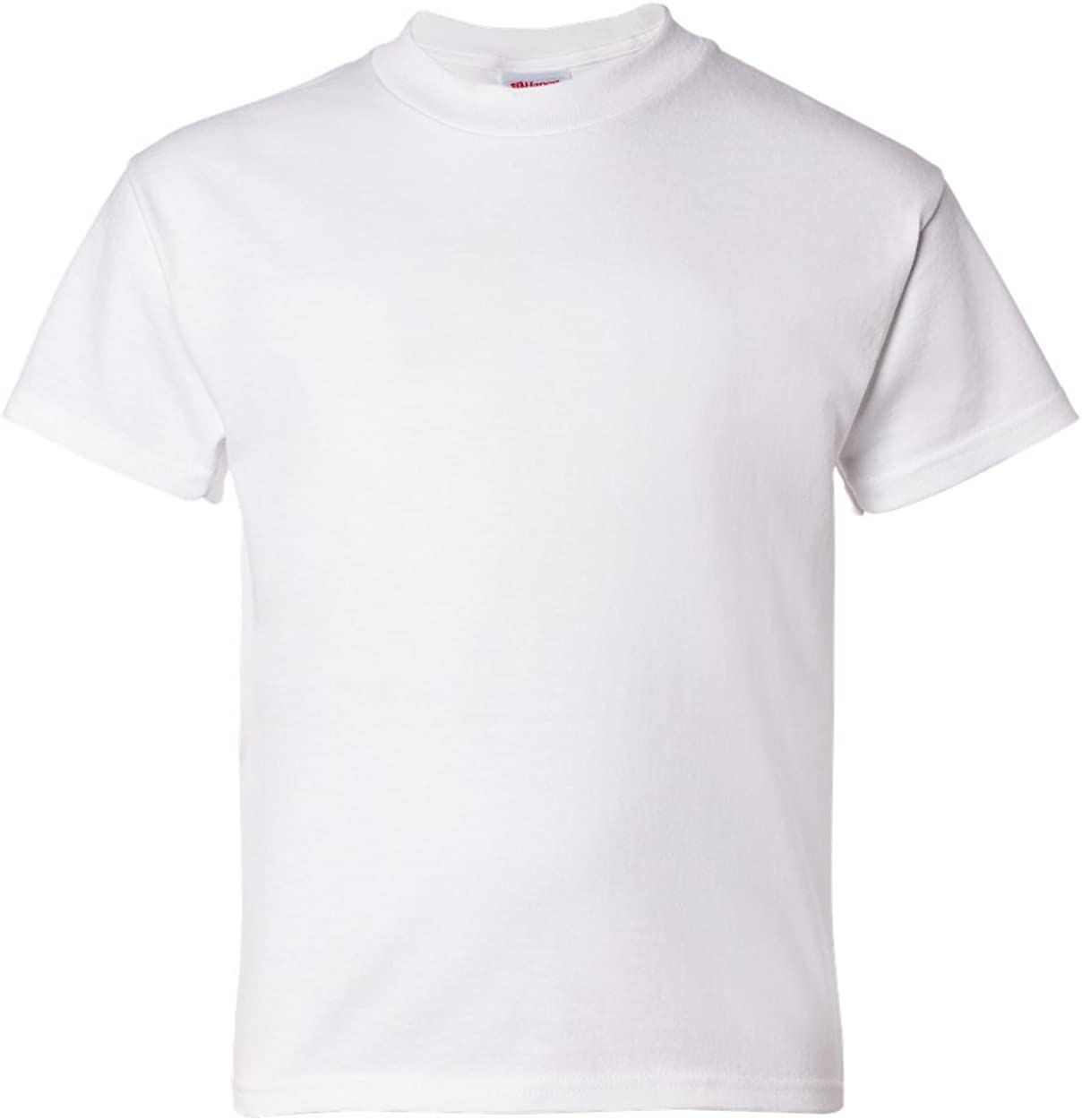 2-Pack Hanes ComfortSoft Youth Short Sleeve Tagless T-Shirt, White, XS (5)