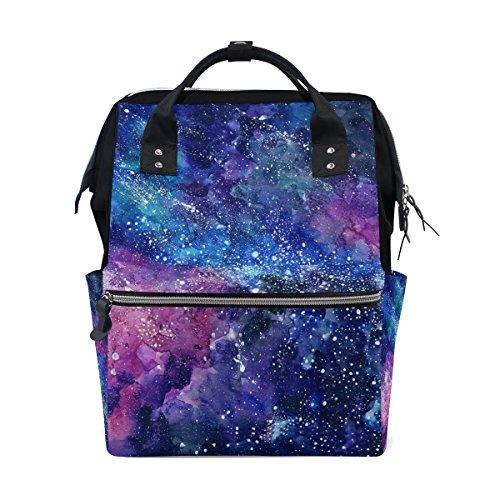 tizorax Space Galaxy Nebel Starry Windel Rucksack Große Kapazität Baby-Bag Multifunktions-Wickeltaschen Mom Rucksack Reisen für Baby Care