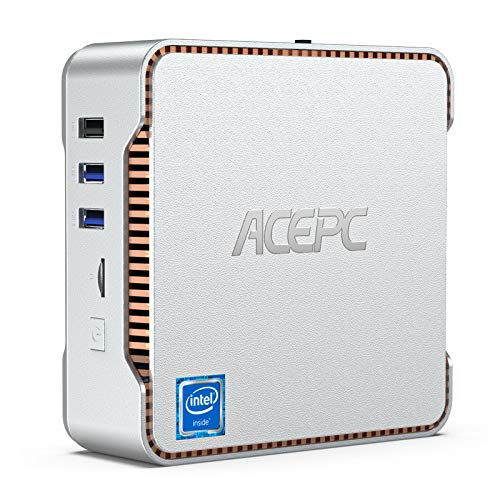 ACEPC Mini PC, 8GB RAM + 256GB ROM, Intel Celeron J4125 (fino a 2,7 GHz) Windows 10 Pro Mini Computer Desktop, Dual WiFi 2.4/5G, Bluetooth 4.2, 4K HD, 2 HDMI+1 VGA, 1000 Mbps LAN