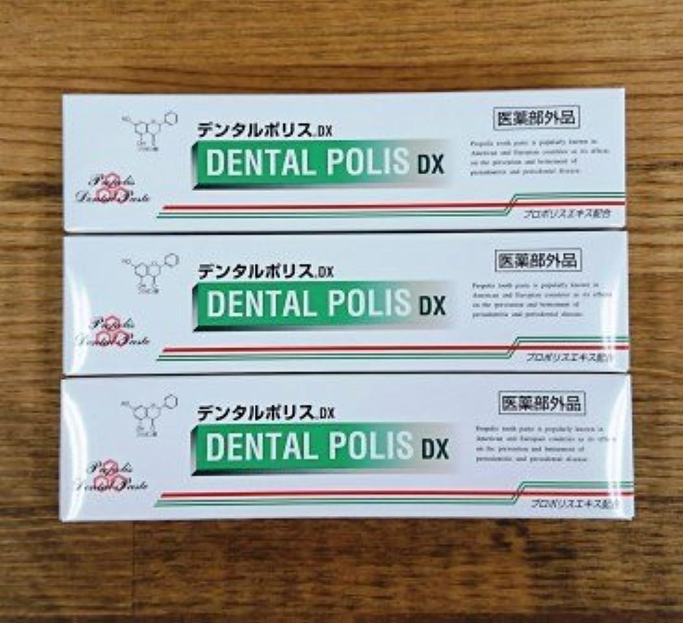 口述作者セーターデンタルポリスDX80g×3本セット 医薬部外品  歯みがき