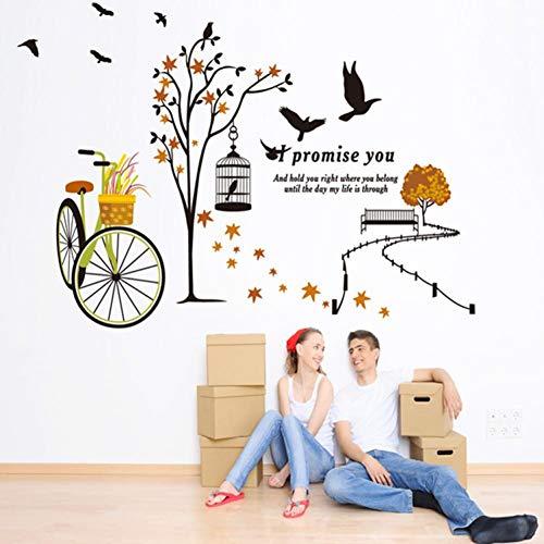 Leeypltm Fietsmand muursticker, waterdichte muursticker, afneembaar muursticker, moderne muurdecoratie, sticker uitgangsdecoratie, kan als verjaardagscadeau worden gebruikt