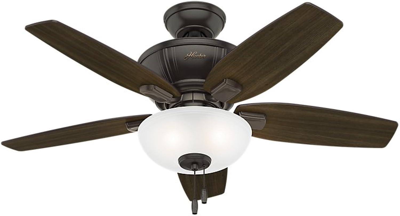 Hunter 51101 Kenbridge 42  Ceiling Fan with Light, Small, Noble Bronze