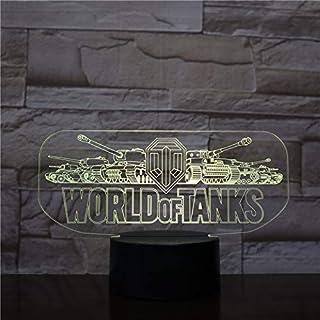 Lampara LED World of Tanks Logo Cambia Color USB Luz Nocturna
