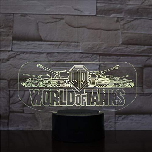 Lampe LED World of Tanks Logo Changement de couleur USB Lumière nocturne