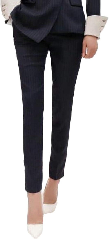CBTLVSN Women's Formal Single Breasted Plaid Irregular Lapel Slim Suit Set