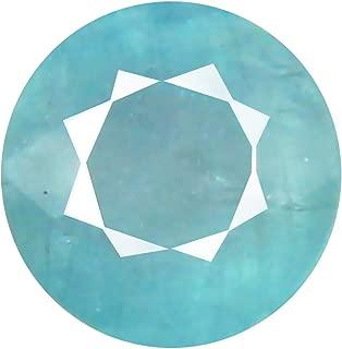 Deluxe Gems 0.63 ct Round Cut (5 x 5 mm) Unheated/Untreated Greenish Blue Grandidierite Natural Gemstone