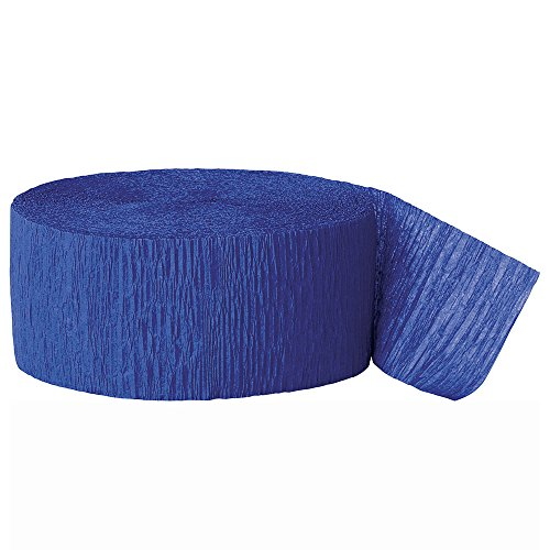 Unique Party - 6345 - Serpentin en Papier Crépon - 24 m - Bleu Royal
