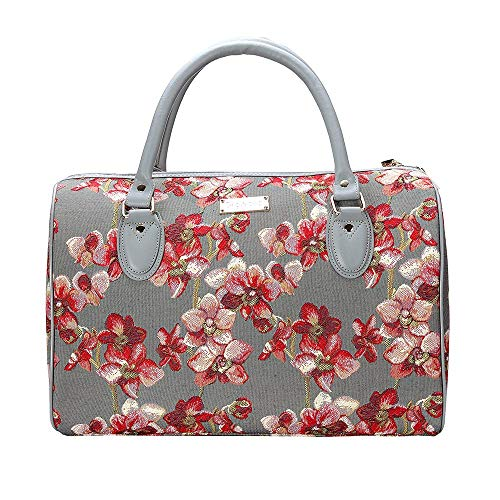 Signare Tapestry Duffle Bag Overnight Bags Weekend Bag for Women with Floral Design