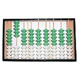 Adanse Abacus Chino 9 Columna 9 Perlas Percha de Madera Tama?O Grande Abacus Antideslizante Herramienta Soroban China en EducacióN MatemáTica para Docentes