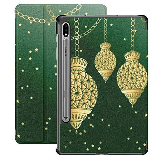 Funda para Galaxy Tab S7 Funda Delgada y Liviana con Soporte para Tableta Samsung Galaxy Tab S7 de 11 Pulgadas Sm-t870 Sm-t875 Sm-t878 2020 Lanzamiento, Linternas Ramadán Linternas turcas Hecho de Vi