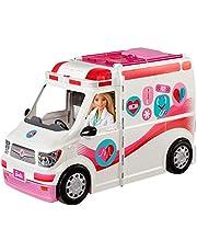 Barbie, Zestaw Do Zabawy Karetka – Mobilna Klinika O Szerokości Ponad 60 Cm, Ze Światłami I Dźwiękami FRM19