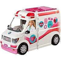 Barbie- Ambulancia de mascotas con muñeca y accesorios, Multicolor, 0 (Mattel FRM19)