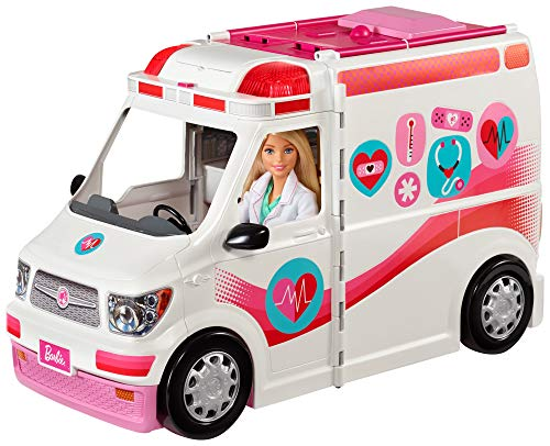Barbie Ambulancia Hospital 2 en 1, accesorios de muñecas (