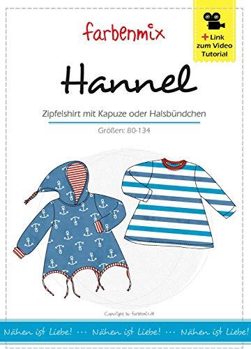 Hannel Farbenmix Schnittmuster (Papierschnittmuster für die Größen 80-134) Zipfelpulli