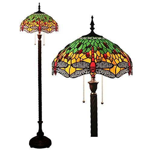 Litaotao Tiffany-Stil-stehlampe 16 Zoll Europäische Libelle Der Libelle Vertikale Lampe Handgefertigte Lampenschirm Glasmalerei Geeignet Für Schlafzimmer Wohnzimmer Club