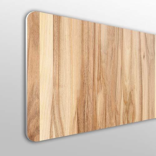 Megadecor - Tête de lit décorative en PVC de 10mm d'épaisseur Effet bois de chêne de couleur claire.