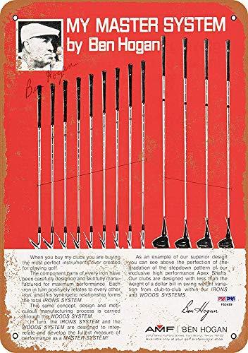 AMF Ben Hogan Master System Golf Metall Blechschild Retro Metall gemalt Kunst Poster Dekoration Plaque Warnung Bar Cafe Garage Party Game Room Hauptdekoration