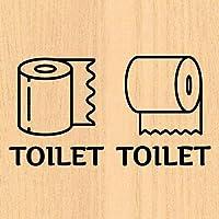 ウォールステッカー トイレ トイレットペーパー ドア toilet 案内 文字 シール