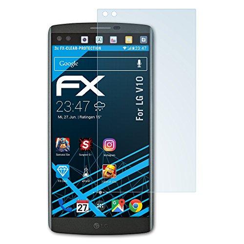 atFolix Schutzfolie kompatibel mit LG V10 Folie, ultraklare FX Bildschirmschutzfolie (3X)
