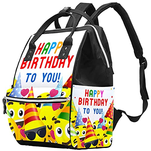 Backpacks Diaper Bag Laptop Notebook Rucksack Travel Hiking Daypack for Women Men - happy birthda ykids party