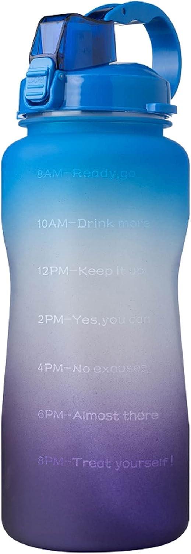 Finally resale start YYDMBH Motivational Water Bottle 2 Litre depot Lar Gallon
