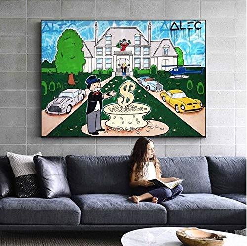 Baodanla Geen lijst doos Ritchie olieverfschilderij poster gedrukt graffiti-kunst op olieverfschilderijen