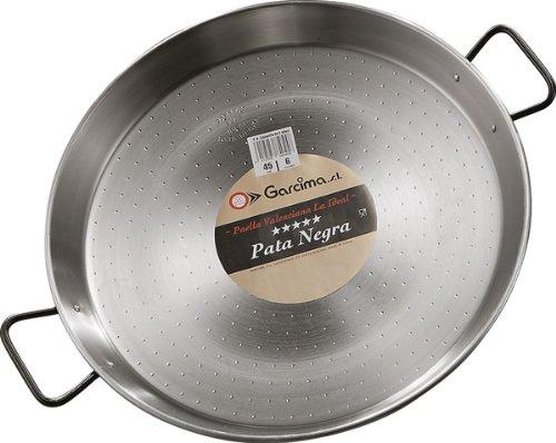 Garcima Paella Pfanne Stahl poliert, grau, 65cm, 1 Stück