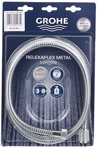 Grohe Relexa, Flessibile doccia in metallo, cromato, 125 cm
