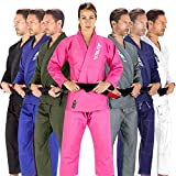 Elite Sports BJJ GI for Women IBJJF Kimono BJJ Jiujitsu GIS W/Preshrunk Fabric & Free Belt (See Special Sizing Guide) (Pink, WA2)