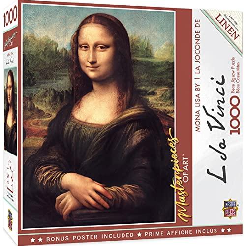 Puzzle Rompecabezas de 1000 piezas Rompecabezas Mona Lisa para adultos por Master Pieces Leonardo DaVinci Da Vinci