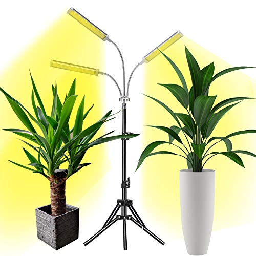 Grow Light, LED Grow Lights for Indoor Plants Full Spectrum 150W 315 LEDs Plant Light Adjustable Tripod Stand with Timer Tri-Head Plant Lights