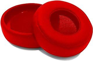MMOBIEL Almohadillas para Auriculares Compatible con Monster Beats by Dr. Dre Pro Detox, Cuero Sintético (Rojo)