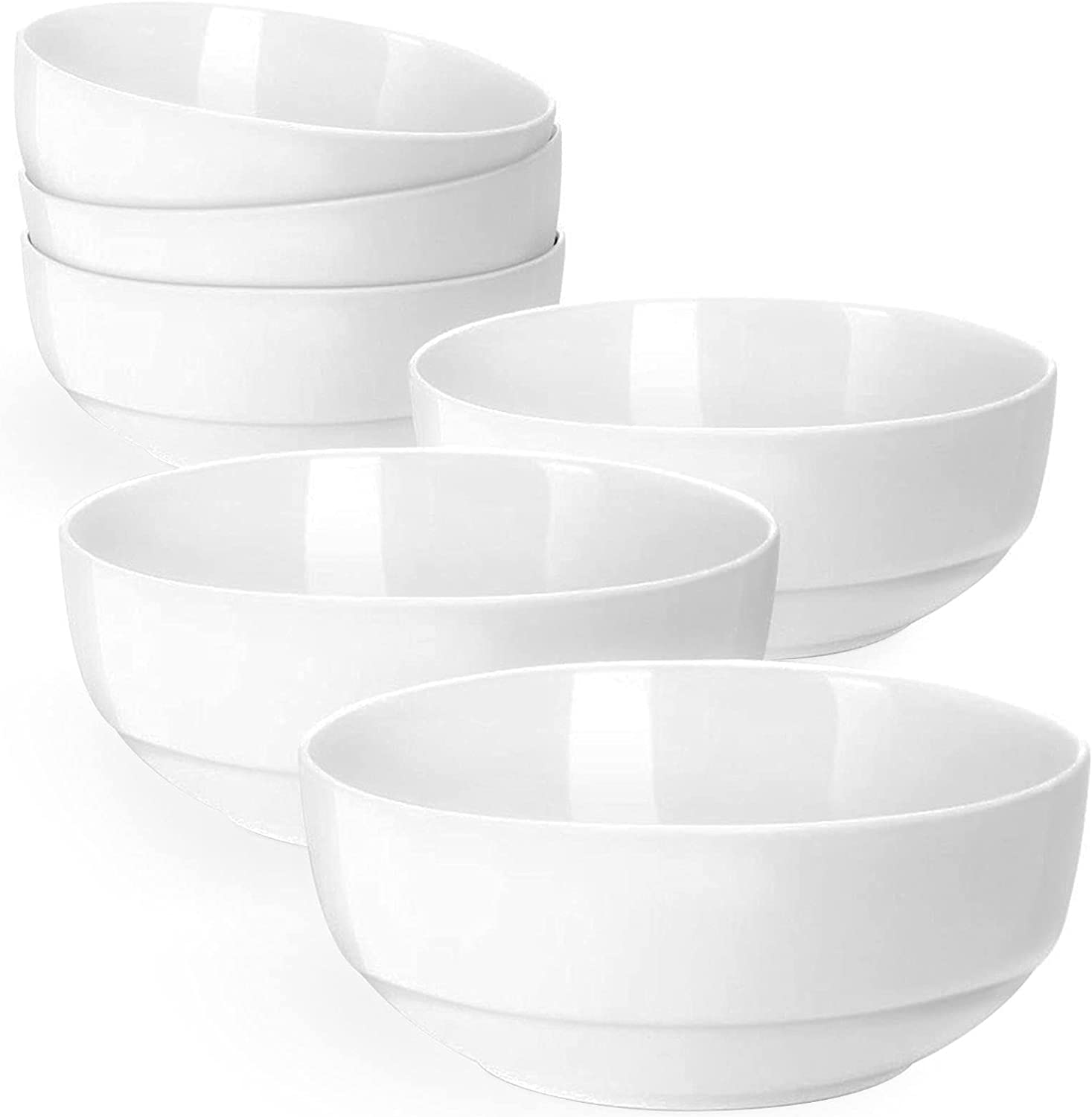 Artena Bright White Cereal Bowl Set 22 Ounces Max 89% OFF Max 55% OFF 6 Soup Bowls of